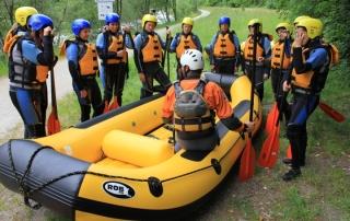 Sicherheit Rafting