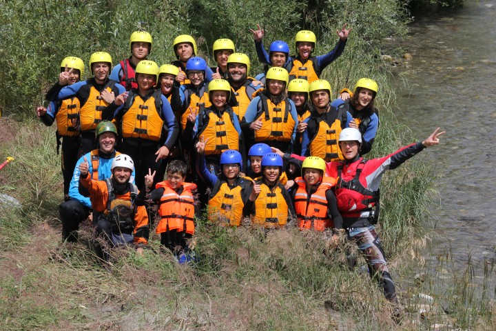 Gruppe Rafting