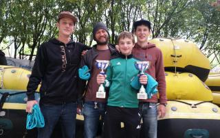 Erster Platz Rafting