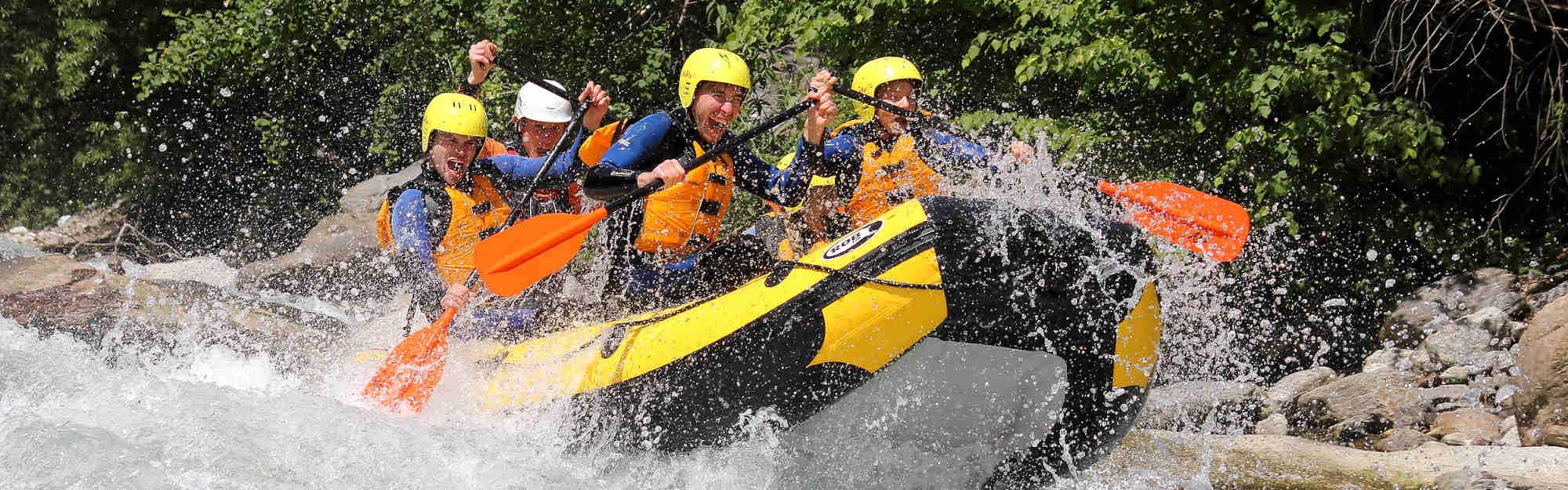 Volle Action beim Rafting im Passertal